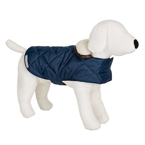Quilted Dog Coat (Navy)