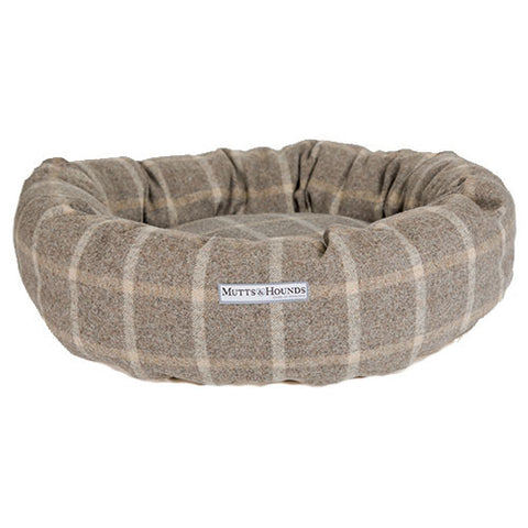 Donut Dog Bed (Slate Tweed)