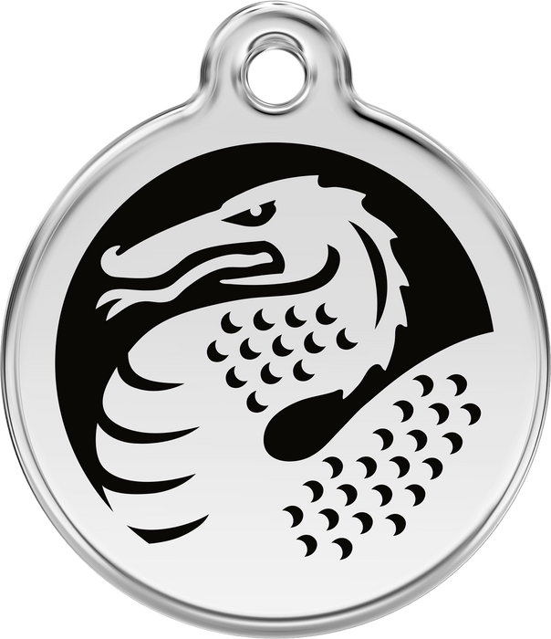 Dragon Dog Tag (Black)