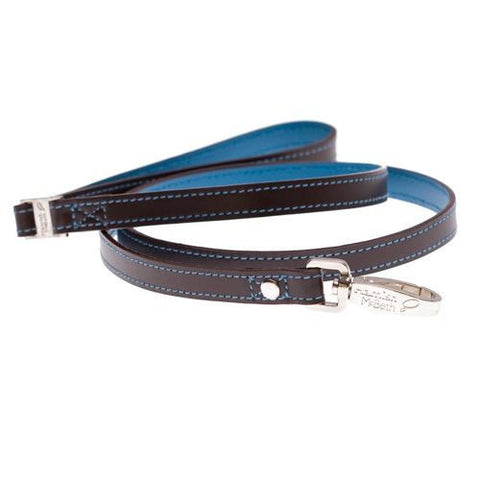Monty Brown/Turquoise Slim Dog Lead
