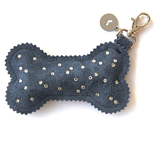 Poop Bag Holder (Galaxy Suede + Swarovski Crystals)