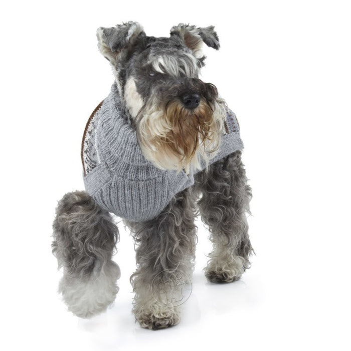 Knitted Dog Sweater (Mystic Snowflake)
