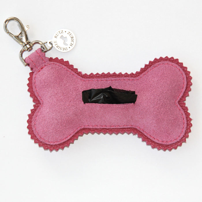 "Poop Bag Holder (Suede + Swarovski Crystals ""GRRR..."")"