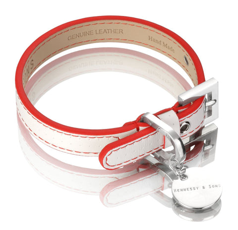 Polo Club Dog Collar (White & Red)