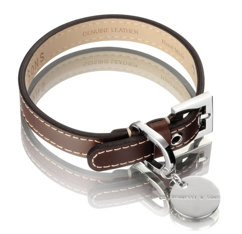 Royal Dog Collar (Chocolate Brown)
