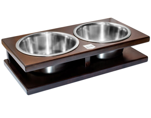 Double Pet Bowl Grande (Chestnut)