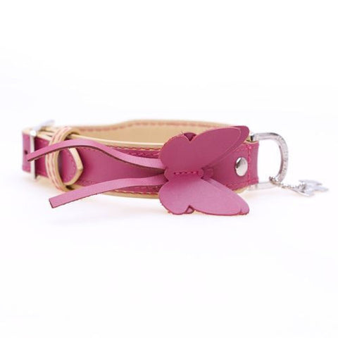 Butterfly Pink/Cream Dog Collar