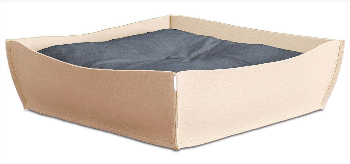 Felt Orthopedic Pet Bed (Cream)