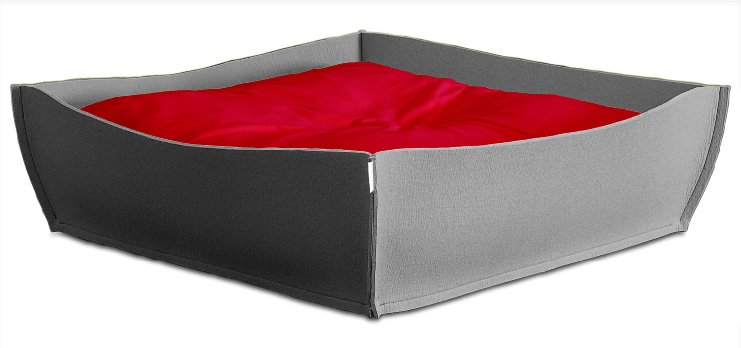 Felt Orthopedic Pet Bed (Grey)