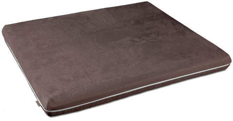 Mary Microfibre Memory Foam Dog Bed (Brown)