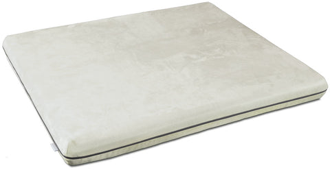 Mary Microfibre Memory Foam Dog Bed (Cream)