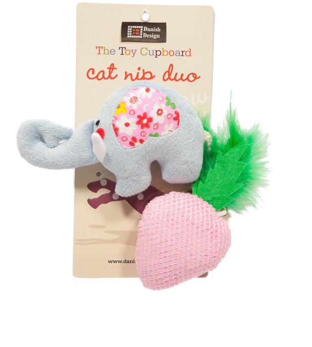 Catnip Duo Cat Toy (Nelly + Strawberry)