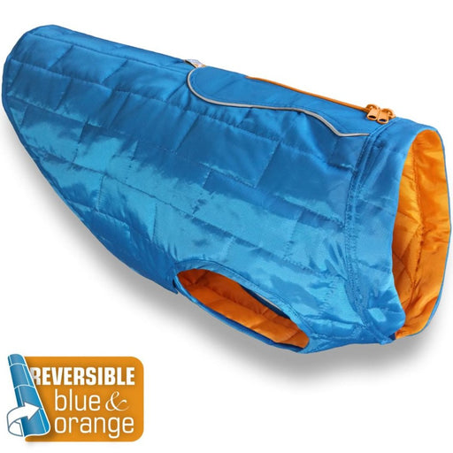 Loft Dog Jacket Water-resistant & Reversible (Blue/Orange)