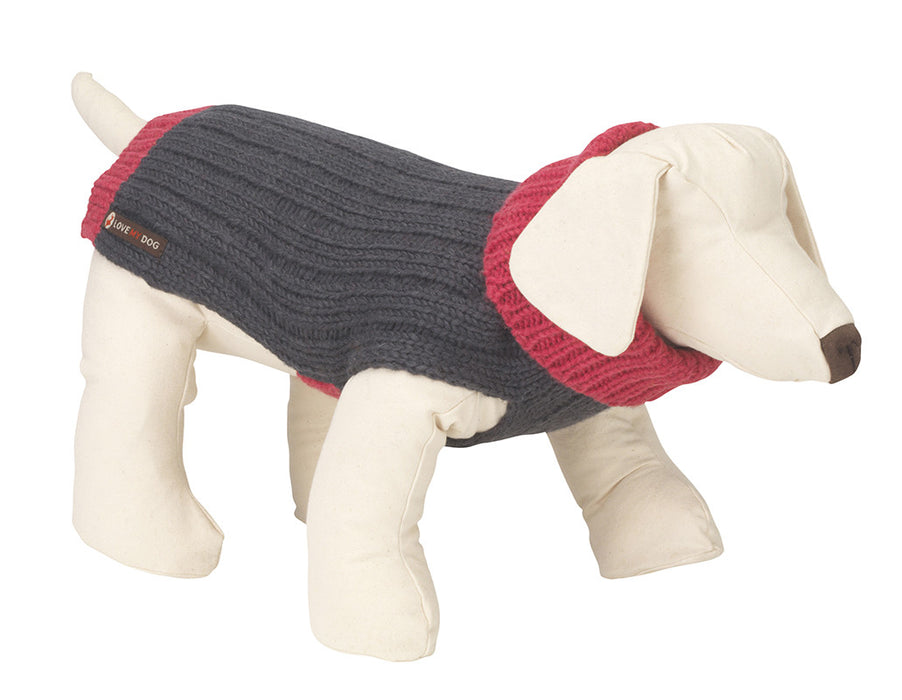 Rydon Dog Jumper (Grey/Pink)