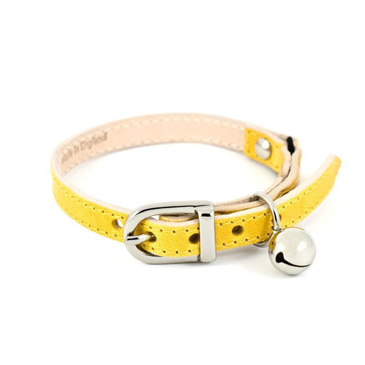 Leather Cat Collar (Yellow)