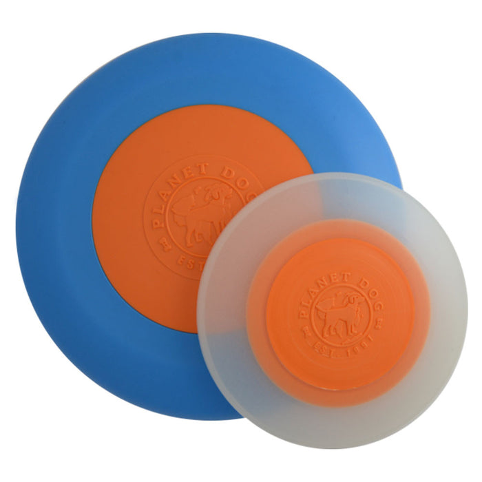 Orbee-Tuff® Zoom Flyer Glow Dog Toy (Blue/Orange & Glow)