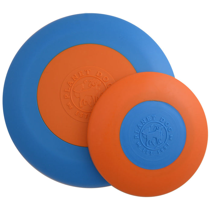 Orbee-Tuff® Zoom Flyer Dog Toy (Orange/Blue)