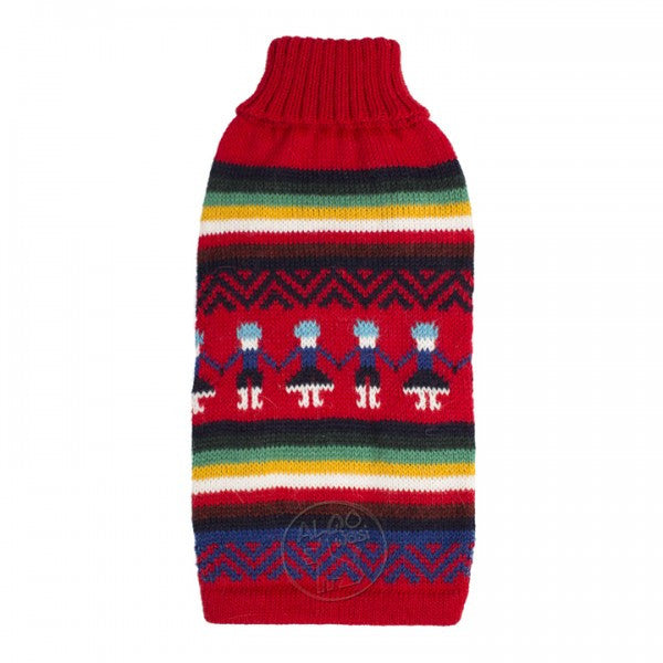 Knitted Dog Sweater (Andean People)