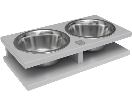 Double Pet Bowl Grande (Grey)