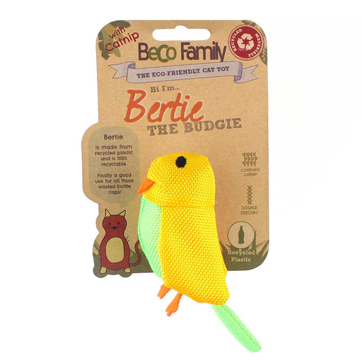 "Beco Plush Cat Toy ""Bertie the Budgie"""