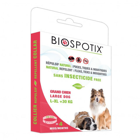 Biospotix 100% Natural Flea & Tick Collar for Large Dogs