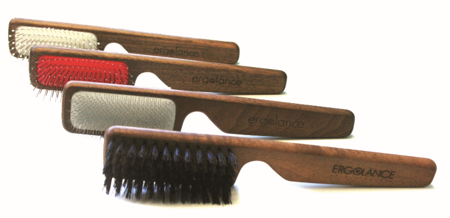 Ergolance Wood & Boar Bristle Dog Brush