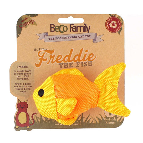 "Beco Plush Cat Toy ""Freddie the Fish"""
