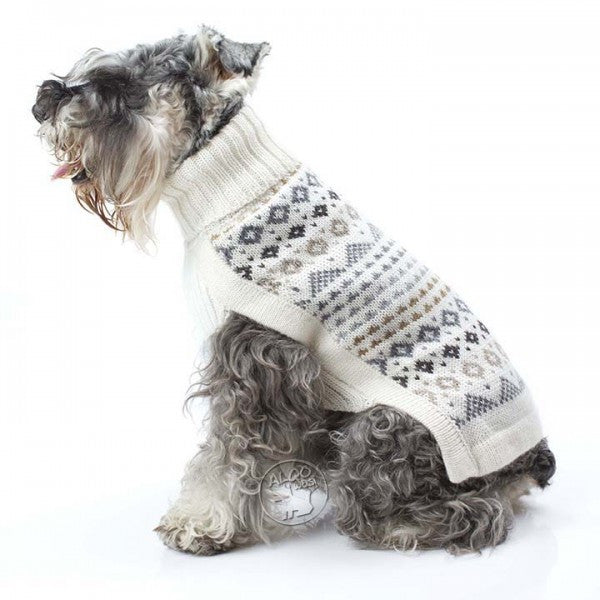 Knitted Dog Sweater (Frosty Isle)