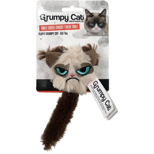 Grumpy Cat Fluffy Cat Toy with Rattle