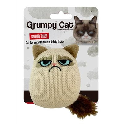 Grumpy Cat Knit Pouncey Cat Toy with Catnip