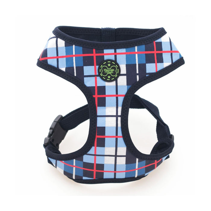 Dog Harness (Tartan Blue)