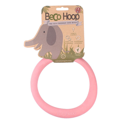 Beco Hoop dog toy (Pink)