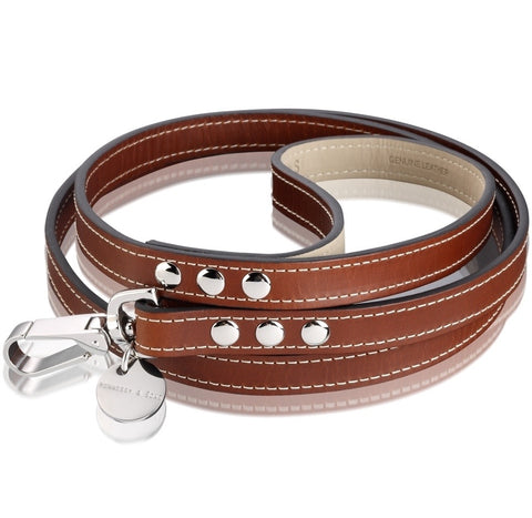 Royal Dog Lead (Red Brown)