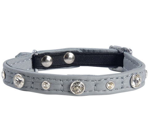 Comet Cat Collar with Swarovski Elements (Grey)