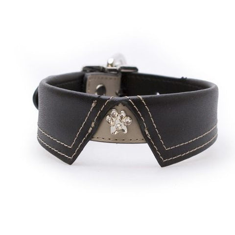 Savile Row Black/Beige Dog Collar