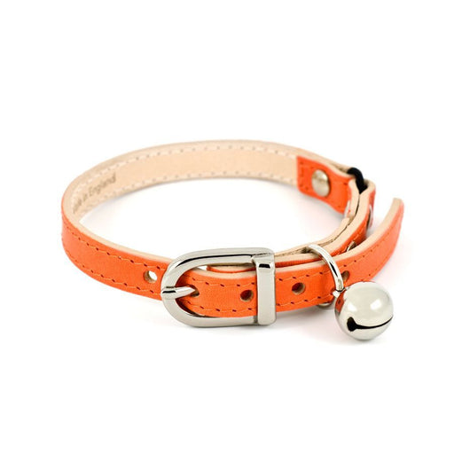 Leather Cat Collar (Orange)
