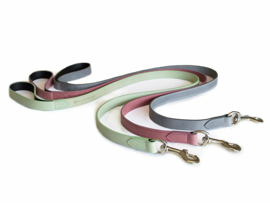Leather Dog Lead (Heather)