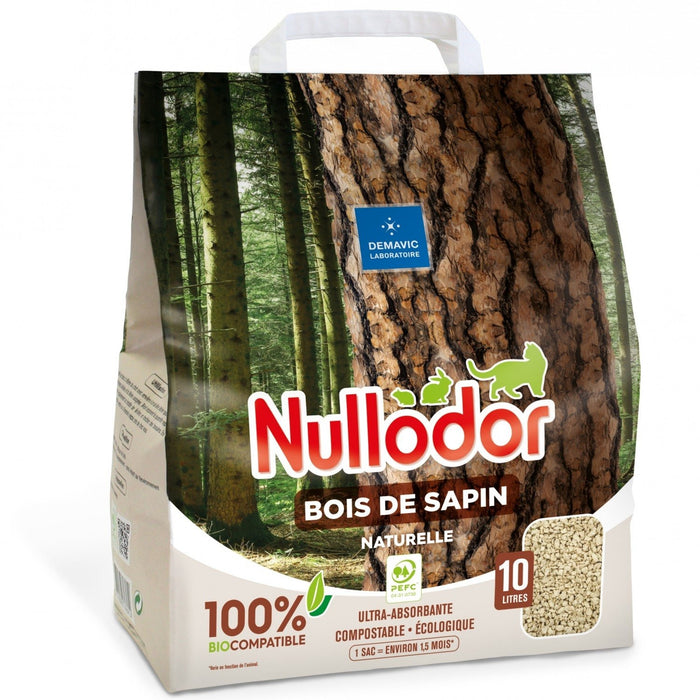 Cat Litter Nullodor Natural Wood Pellets (10 litres)