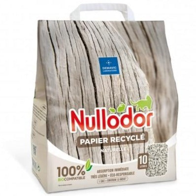 Cat Litter Nullodor Recycled Paper (10 litres)