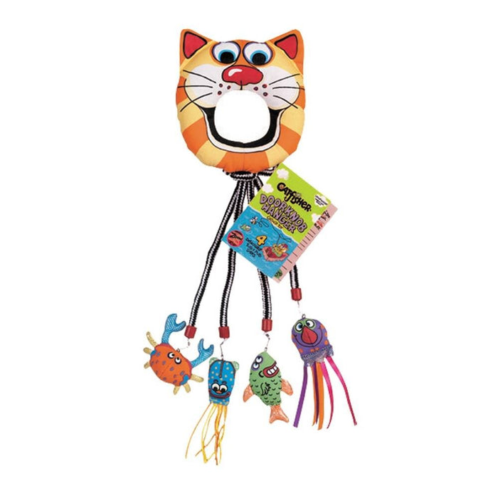 Kitty Kickz Catfisher Doorknob Hanger