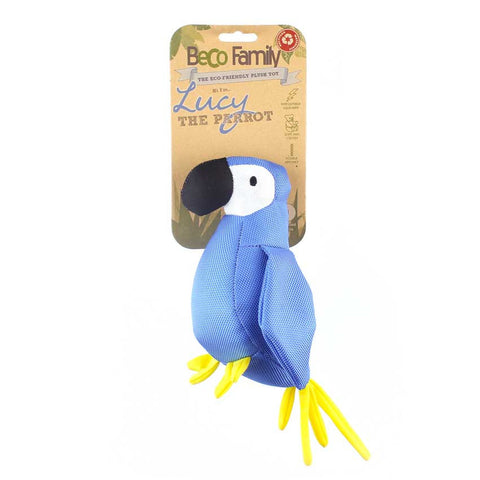 "Beco Plush Dog Toy ""Lucy the Parrot"""