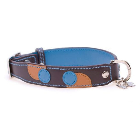 Monty Brown/Turquoise Dog Collar