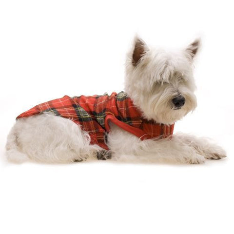 Tartan Dog Fleece (Red)