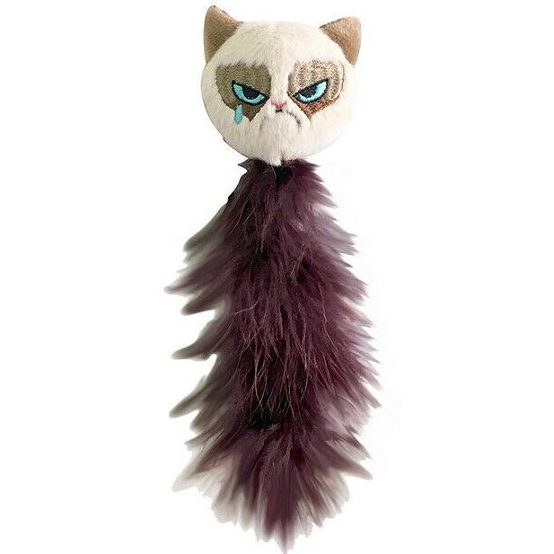 Grumpy Cat with Feather Tail