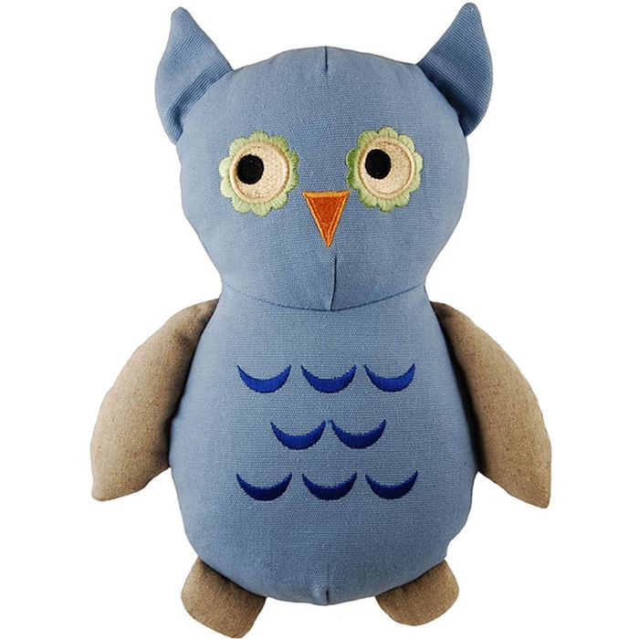 Organic Dog Toy with Squeaker (Owl)
