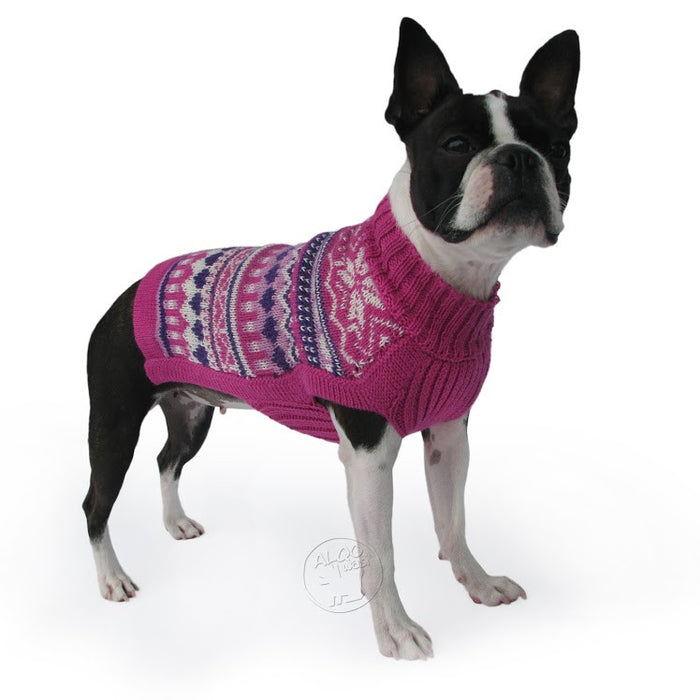 Knitted Dog Sweater (Sweet Hearts)