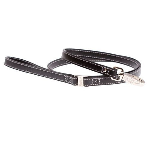 Flower Black Slim Dog Lead