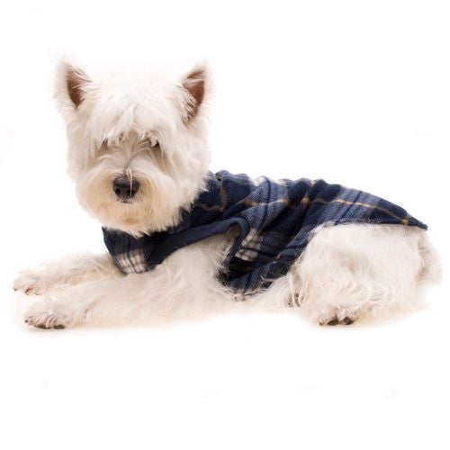 Tartan Dog Fleece (Blue)