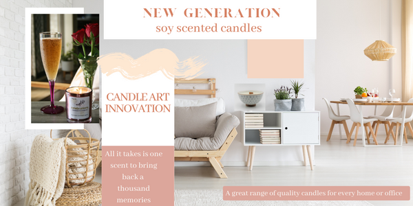 Luxury Soy Scented Candles for every home or work place.