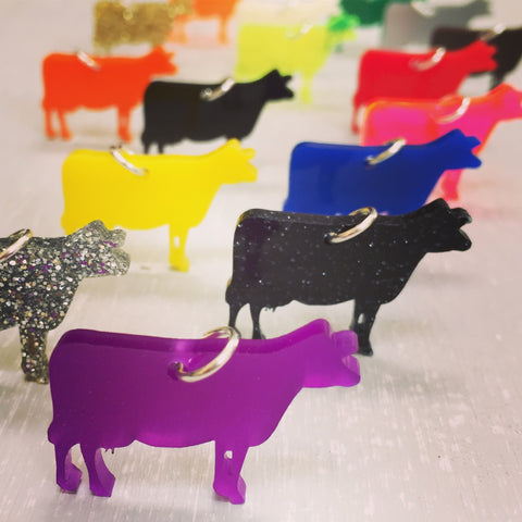 Colored cow necklaces